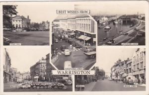 England Best Wishes From Warrington Multi View 1957