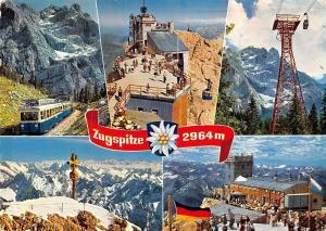 Zugspitze, Zahnradbahn Gipfelstation Muenchner Haus Train Cable Car Mountains
