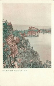Vintage Postcard Mohonk Lake NY Ulster County From Eagle Cliff