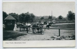 Pony Track Minnehaha Park Minneapolis Minnesota 1910c postcard