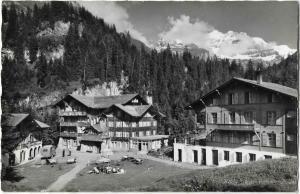Switzerland Kiental Kurhaus Griesalp RPPC 01.20