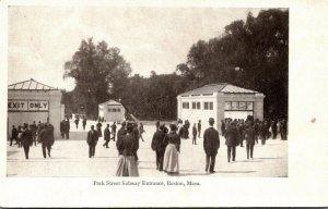 Massachusetts Boston Park Street Subway Entrance