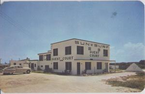 ORMOND BEACH FL - SUN N SURF COURT MOTEL 1950s
