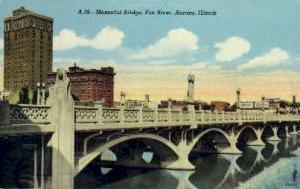 Memorial Bridge Aurora IL Unused