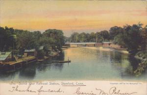 Scene near Railroad Station , Stamford , Connecticut , PU-1906