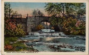 Bridge over Allens Creek - Rochester, New York - pm 1922 - WB