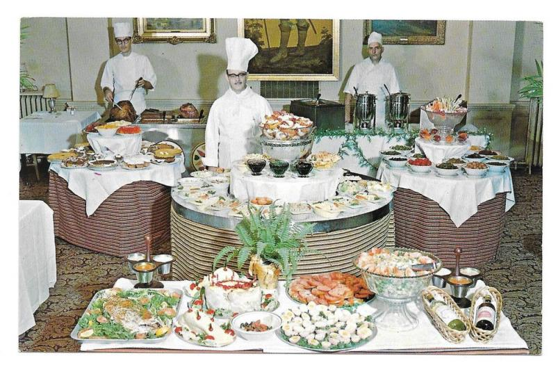 Sterling Hotel Smorgasbord Wilkes Barre PA Chef Postcard