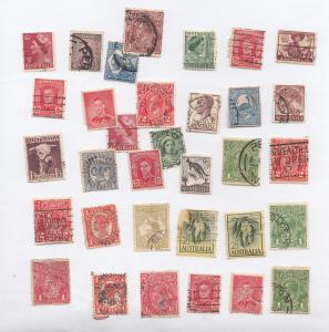 30x Australia Australian Old Stamp Collection Bundle