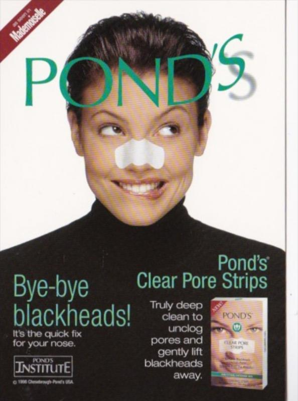Advertising Pond's Clear Pore Strips