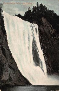 Canada Montmorency Falls Near Quebec Cascade Postcard