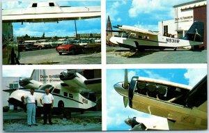 1960s Miami Florida Airplane Postcard DEAN H. FRANKLIN AVIATION ENTERPRISES