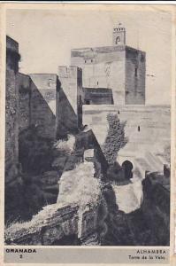 Torre De La Vela, Alhambra, Granada (Andalucia), Spain, PU-1920