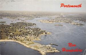 Portsmouth, New Hampshire, Panorama, seaport town, air view