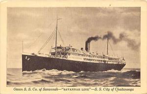 5480   S.S. City of Chaitanooga   Savannah Line