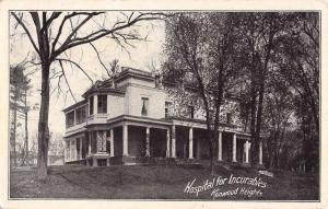 Albany New York Kenwood Heights Hospital For Incurables Antique Postcard K87406
