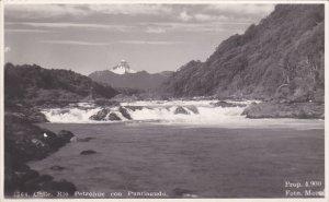 RP: CHILE. Rio Petrohue con Puntiagudo , 1945