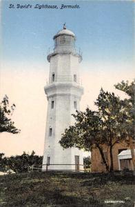 Bermuda St David's Lighthouse Exterior View Antique Postcard J76639
