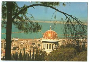 Israel, Haifa, with Baha'i Centre, used Postcard