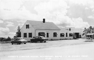 F21/ Searsport Maine RPPC Postcard c1950s Cundy's Lobster House Pound