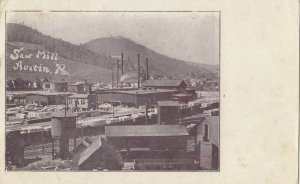 AUSTIN , Pennsylvania, 1900-10s ; Saw Mill