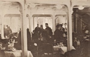 Postcard, White Star Line RMS Titanic's second class Dining Saloon on D Deck CA2