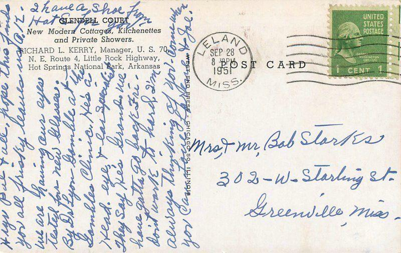 1951 Glendell Court Hot Springs Park Arkansas Roadside West End Press 12150