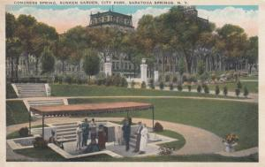 SARATOGA SPRINGS , New York , 1900-10s ; Congress Spring , Congress Garden , ...