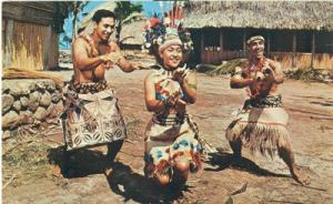 Colorfully dressed Samoans, Polynesian Cultural Center, u...