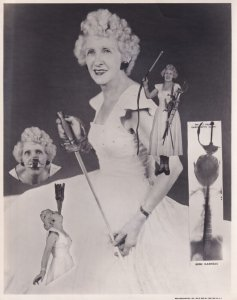 RP; Female Circus Sword Swallower, X-Ray View