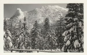 RP: IDYLLWILD, California, 1930-50s; Tahquitz Peak in Winter