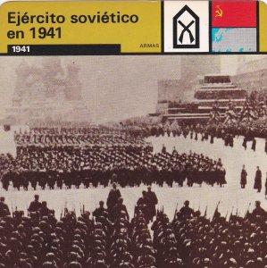 FICHA ARMAS: EJERCITO SOVIETICO EN 1941. 1941