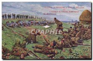 Old Postcard Militaria L & # 39abus white flag Brother Mathias
