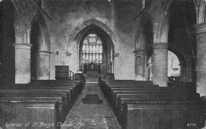 Rye Interior of St Mary's Church Interior Eglise Postcard