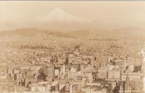 RP; Mt. Hood from PORTLAND , Oregon , 1920-40s