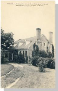 Westmorland County, Virginia/VA Postcard, Memiorial Mansion