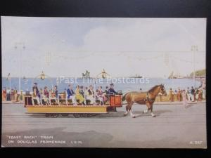 Isle of Man: The TOAST RACK Tram on Douglas Promenade c1934 by Valentine's A.567