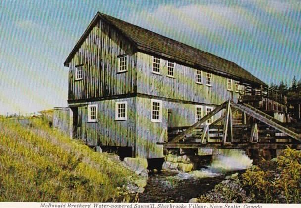 Canada Nova Scotia Sherbrooke Village McDonald Brothers' Water Powered S...
