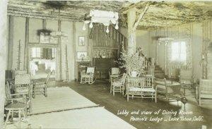 C.1910 RPPC Lobby of Pomin's Lodge, Lake Tahoe, Calif. Vintage Postcard P99