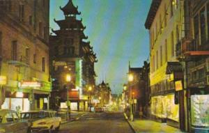 California San Francisco Chinatown Main Street Grant Avenue At Night 1959