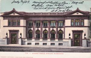 SPOKANE , Washington , PU-1908 ; Masonic Temple