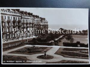 East Sussex ST LEONARDS ON SEA Warrior Square c1934 RP Postcard