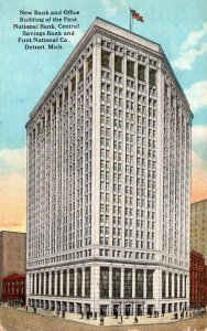 Michigan Detroit First National Bank and Office Building 1922 Curteich