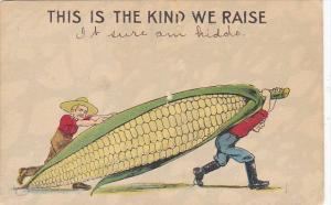 Exaggeration Two Men Carrying Large Ear Of Corn 1915