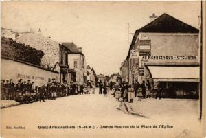 CPA GRETZ-ARMAINVILLIERS - Grande-Rue vue de la Place de (249847)