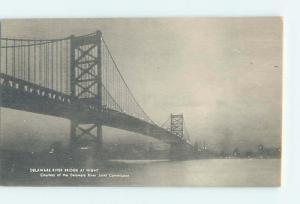 Unused 1920's BRIDGE SCENE Deepwater New Jersey To Wilmington Delaware DE H8411