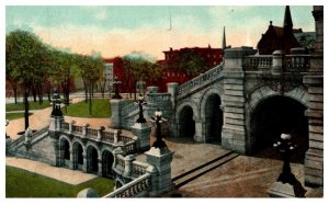 New York Albany ,  Exterior Staircase to Capitol