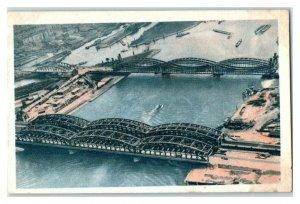 Elbe Bridges near Hamburg, Famous Bridges, Echte Wagner German Trade Card *VT31W