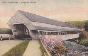 WOODSTOCK, Vermont, PU-1940; Old Covered Bridge