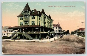 Wildwood NJ~Hotel Dayton~Ladies on 2nd Story Porch~Staircases~Barber~Street~1910