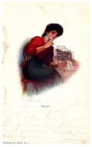 Victorian Woman Stenographer